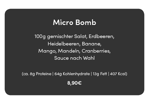 micro bomb salat